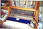 The dyed weft being woven on the loom.ikat class 3Debbie Rindfleisch
