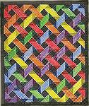This is a quilt design I drew and colored some time in the 1980's.  I just found a new collection from Moda of yummy sherbet colors and indulged in a whole color wheel of lights and darks.  Maybe now