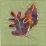 "I digitized this autumn leaf applique using the generic digitizing software program ""Autodigitizing"".  It is sewn out on hand dyed fabric by Primrose Gradations and the applique is a  Hoffman batik."