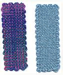 Here are my first two projects from the bookmark loom (Weavette). The solid one was my first attempt, made while VERY tired, from commercial yarn. The colorful one is from my handspun.Woven BookmarksD