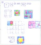 This is just some ideas for using Weavette squares and rectangle shapes in quilt square type blocks.  They are just doodles but its some ideas for using the current Weavettes available.Weavette patchw