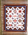 This is the sample quilt top for the Intermediate Technique Builder BOM I teach at Front Porch Quilts in Houston Texas. The 12 blocks in double pink and dark brown are the blocks the students make in