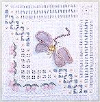 Stumpwork class from Victoria Sampler called dragonfly lace.  The wings are fused ribbon edged with buttonhole stitch which was my choice of finishing.  Stitched by Karen Willett