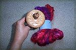 Lacewood Spindle had to come home with me to go with the yummie red and purple roving.