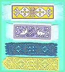 Crochet & Assisi Embroidery Bookmarks. After the 2004 swap I made more bookmarks for gifts. The crochet ones are variations on the one for the swap (my own design). I got interested in Assisi Embroide