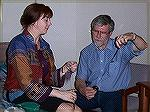 Here's Ruth McGregor teaching Ramona's husband Ernie Paine to spin in Denver, Convergence 2004.