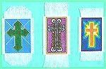 2 more cross stitch bookmarks from my post swap binge, plus a Celtic Cross one done in Assisi embroidery counted thread stitch.