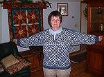 Russian Prime sweater designed by Meg Swansen of School House Press (Elizabeth Zimmerman's daughter). I learned so much knitting this sweater including steeks, I cord and lots of patience getting the