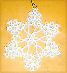 Here's Kathy's tatted snowflake, from a Dover publication.  From our 2005 Holiday Ornament swap.