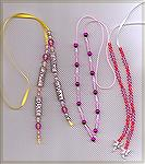 These bookmarks were designed and created by Patricia Tenpenny. When placed in the book you have beads at the top and bottom of the page.