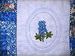 Detail of the Bluebonnet Embroidery - my first embroidery project.