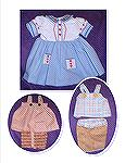 In the hoop doll dress and shorts sets.