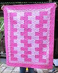 "This quilt was made with rectangles I cut on my studio die cutter. They were 3 1/2 x 6 1/2"" rectangles. I pieced the top in a day. I quilted the final piece with my Babylock Jane and my quilt motion s"