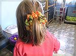 This is a Curly-Q hair ornament from Leisure Arts one-skein of less project.