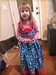 This Cat in the Hat dress was made for Dr. Suess day at pre-school. Katie downloaded the pattern offline and made a few changes and made the adorable dress.