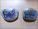 These are my first attempt at painting butterflies on rocks.