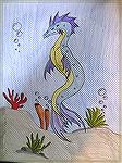 This is a water dragon drawn by Patricia Tenpenny.
