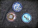 These are some bottle cap steampunk jewelry pieces Patricia and I tried.
